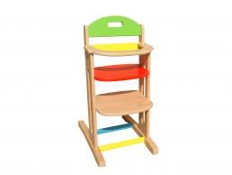 drvena stolica hranilica za hranjenje dece