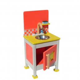 drvena igračka za decu sudopera