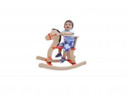 Drveni konjić za decu sa ogradicom
